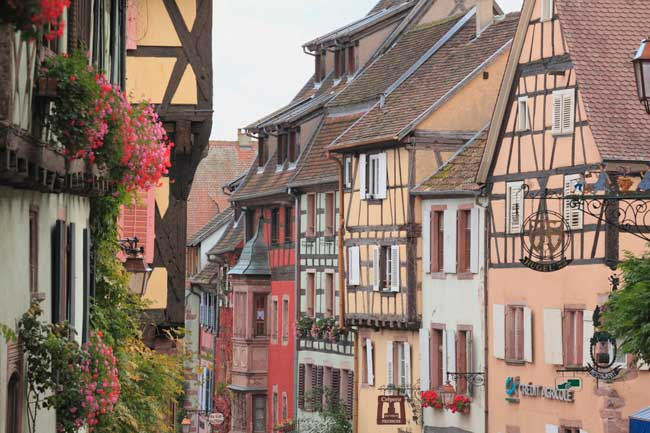 Adventures by Disney Rhine river cruises visit the places and culture that inspired the Beauty and the Beast films including Riquewihr, an idyllic French village that will make guests feel as though theyÕve stepped into BelleÕs hometown from the movie. (Yoshihiro Takada, photographer)