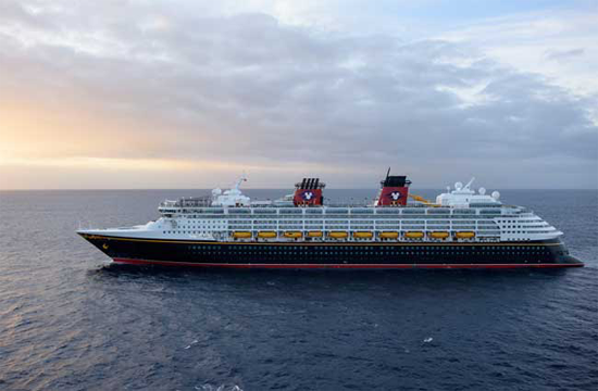 The Disney Wonder at sea. Photo by Todd Anderson