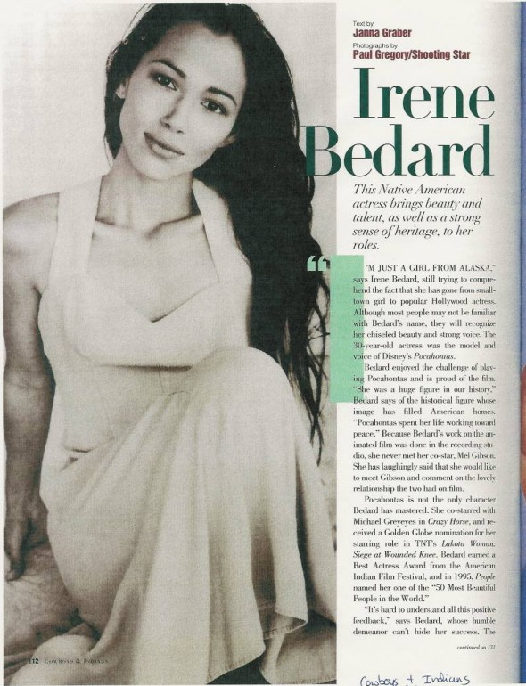 Actress Irene Bedard